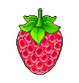 pixel fresh raspberry detailed isolated vector image vector image