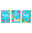pool party poster welcome to pool party flyer vector image