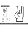 Rock and roll hand line icon vector image vector image