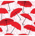 romantic seamless pattern with umbrellas and rain vector image
