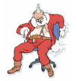 santa claus sleeping on a chair a vector image