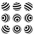 set minimalistic shapes black and white vector image vector image