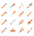 set of color construction tools vector image