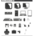 set web icons retro monitor and computer vector image vector image
