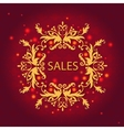 Shiny sale card floral ornament pattern vector image vector image