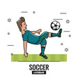 soccer tournament league vector image vector image
