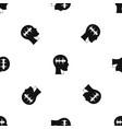 sound wave pattern seamless black vector image vector image