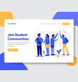 student community concept vector image