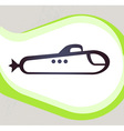 Submarine Retro-style emblem icon pictogram EPS 10 vector image vector image