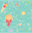 summer seamless pattern with texture vector image vector image