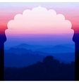 Sunrise in the mountains landscape vector image