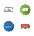 table and sofa icon vector image vector image