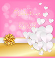 valentines day sale background discount card vector image vector image