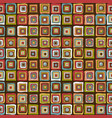 vintage colorful squares background vector image vector image