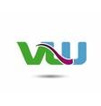 VW logo vector image vector image