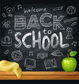 welcome back to school knowledge day vector image