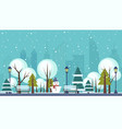 winter public city park vector image vector image