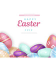 writing over heap easter eggs vector image vector image