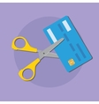 cut credit card use scissors for better finance vector image
