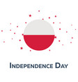 independence day of poland patriotic banner vector image