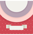 Abstract background in retro style with text field vector image