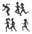 athletic run man people silhouette jogging summer vector image vector image