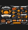 baker shop and patisserie menu vector image vector image