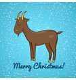 Beautiful cute goat symbol of the new year vector image vector image