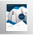 blue business annual report brochure template vector image vector image