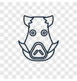 boar concept linear icon isolated on transparent vector image