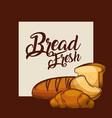 bread fresh sliced toast croissant bakery poster vector image