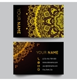 Business card template black and golden beauty vector image