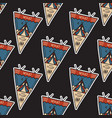 camping adventure pennants pattern mountain vector image vector image