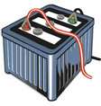 car battery on white background vector image