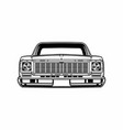 car classic front view vector image
