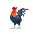 cartoon rooster cock china zodiac asian symbol vector image