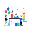 children birthday celebration flat design style vector image