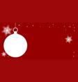 christmas copy space vector image vector image