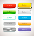 Collection of Buttons in different style vector image