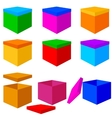 Collection of colorful box christmas gifts vector image