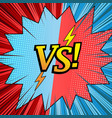comic duel starry template vector image vector image