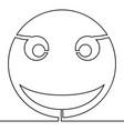 continuous one line smile icon emoji concept vector image vector image