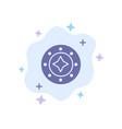 cosmos galaxy shine space star universe blue icon vector image vector image