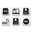 Dictionary book buttons set vector image vector image