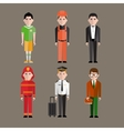 Different people professions characters vector image vector image