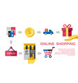 digital white online shopping vector image vector image