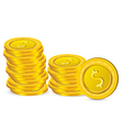dollar coins vector image vector image