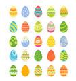 easter realistic egg set egg hunt sunday vector image vector image
