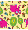 elephant pattern vector image vector image