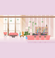 empty no people waiting area and reception hall vector image vector image